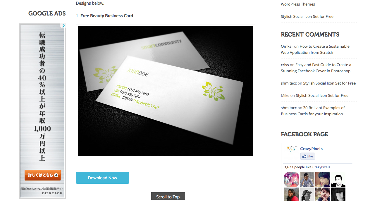5 High-quality Business Card Designs for Free Crazy Pixels