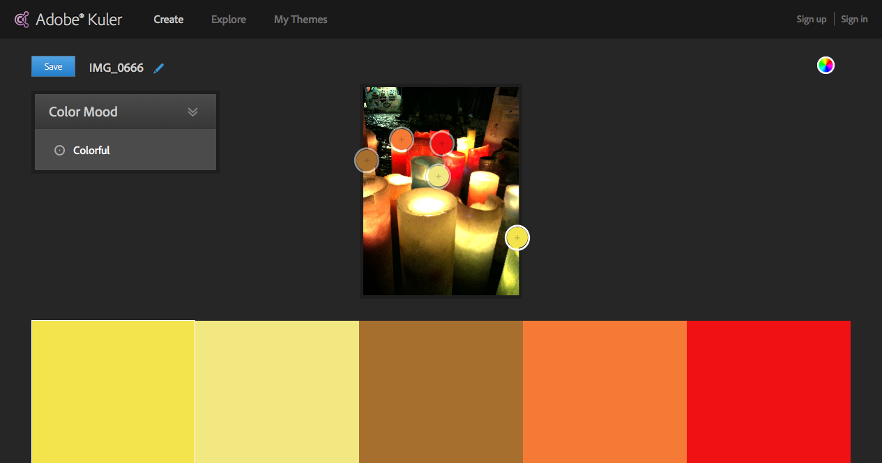 Image Color schemes - Adobe Kuler