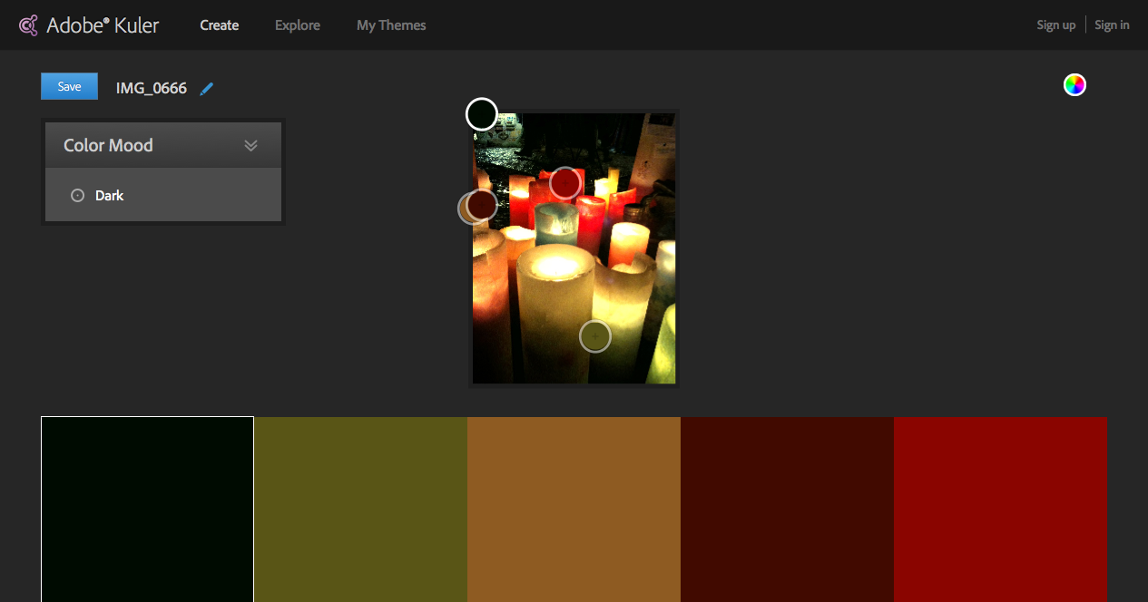 Image Color schemes - Adobe Kuler1