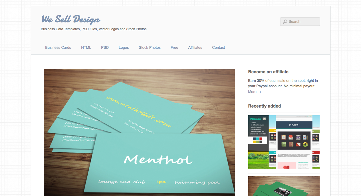 Menthol Minimal Business Card Template - We Sell Design