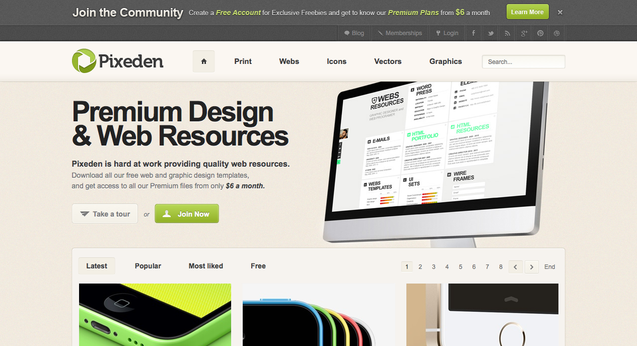 Premium & Free Design and Web Resources  Pixeden