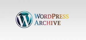 wordpress archive