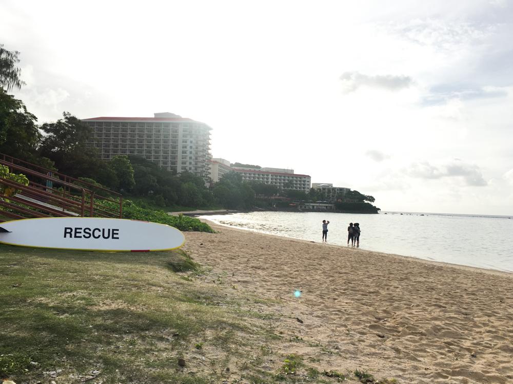 イパオビーチのレスキュー